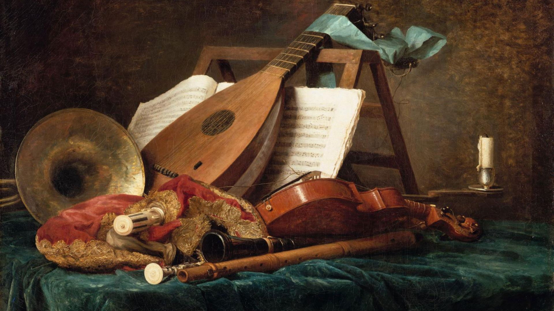 Les attributs de la musique, Anne Vallayer-Coster, 1770