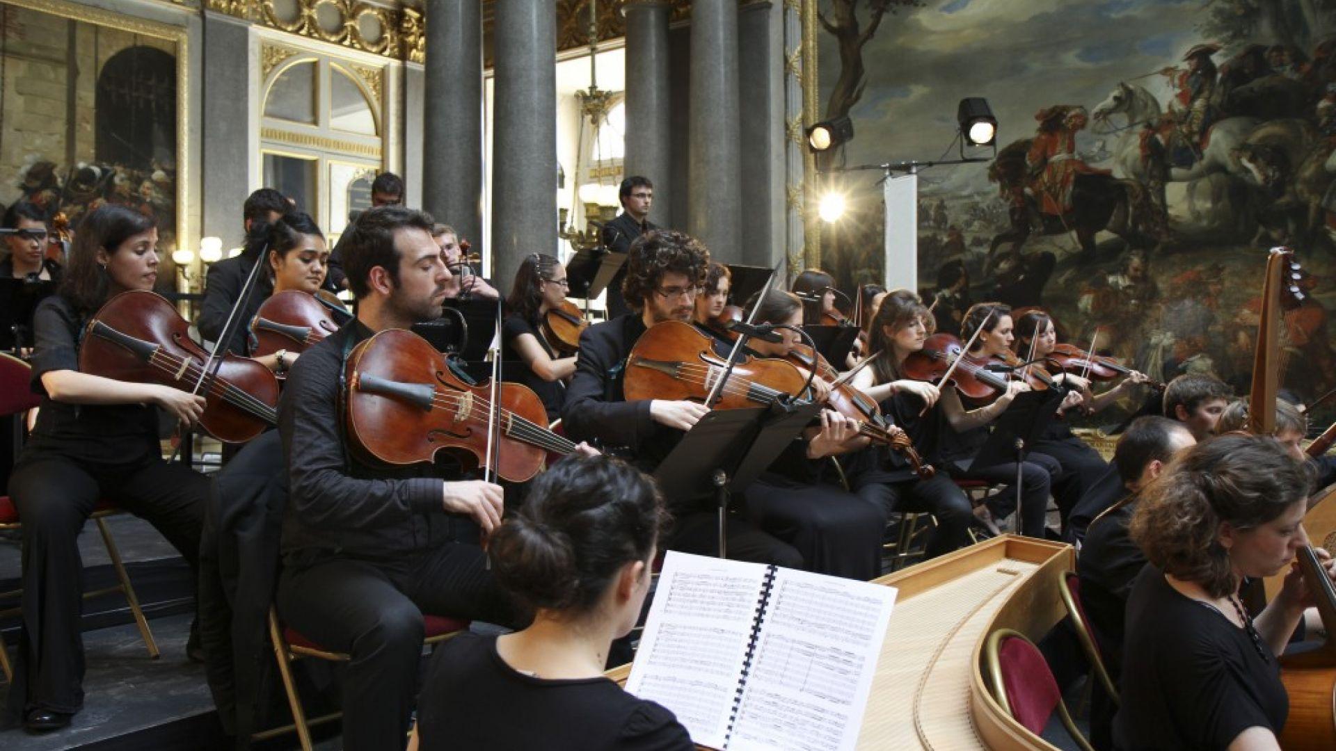 Académie de violon 2012 à Versailles avec le CMBV, direction Patrick Cohen Akenine et Sir Roger Norringhton