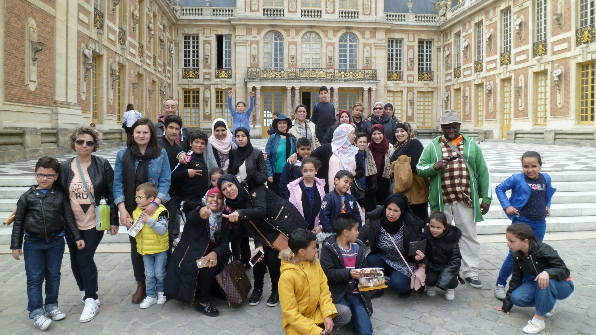 Visite du château de Versailles par les centres sociaux de Trappes
