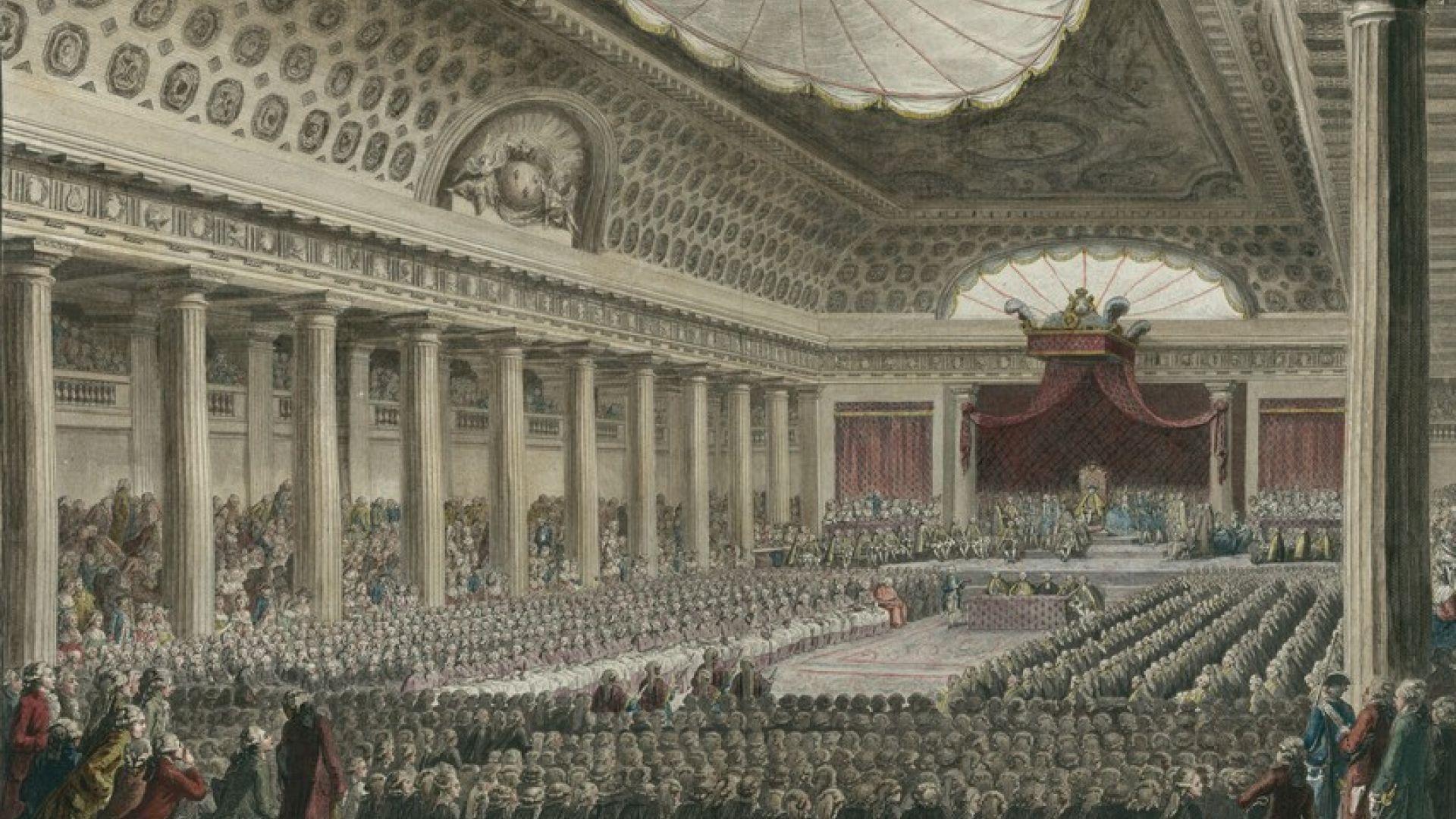 Ouverture des Etats généraux à l'Hôtel des Menus-Plaisirs en 1789