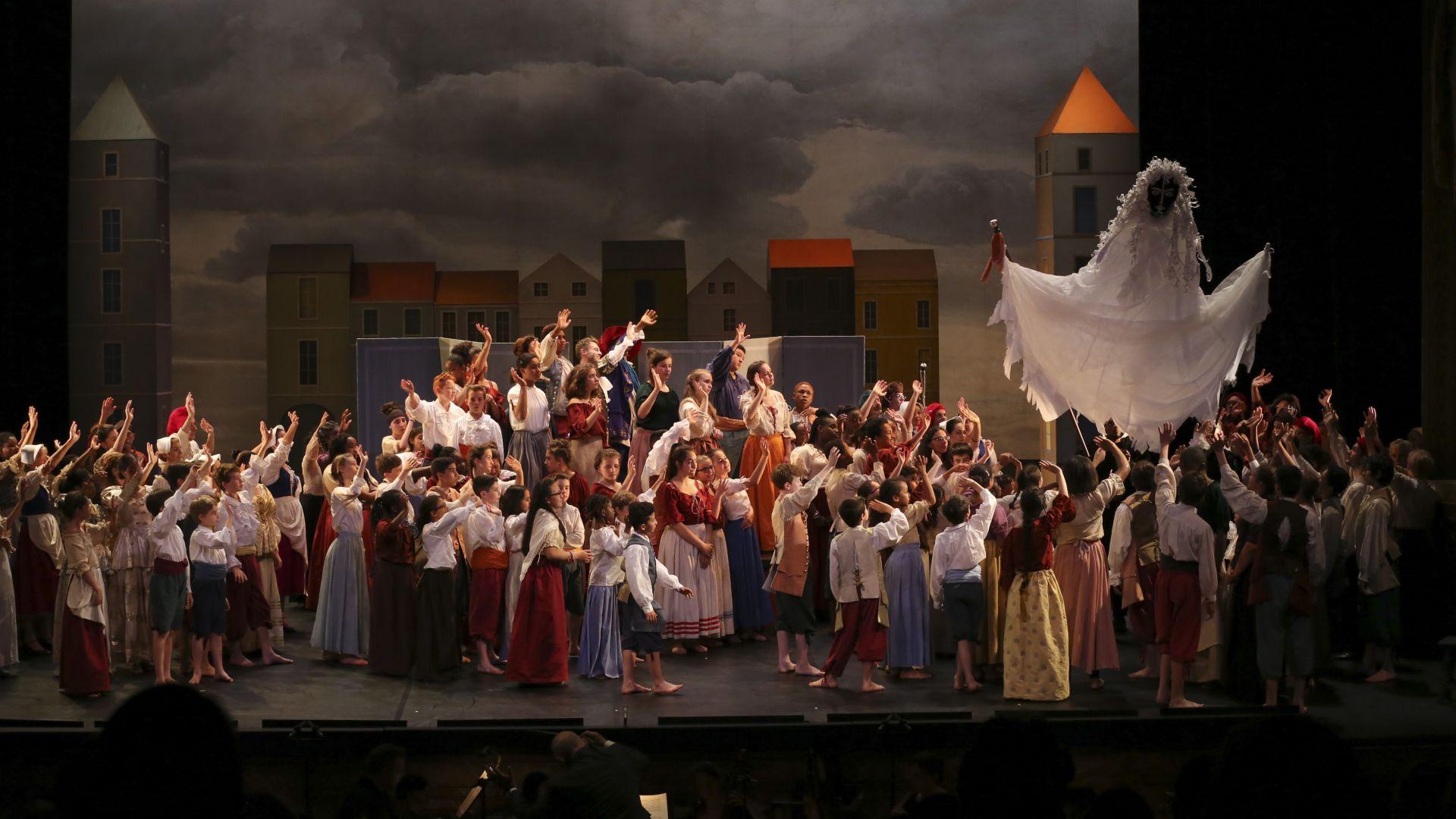 Répétitions de Baptiste ou l'opéra des farceurs dans le cadre de projets de territoire menés par l'action culturelle du CMBV