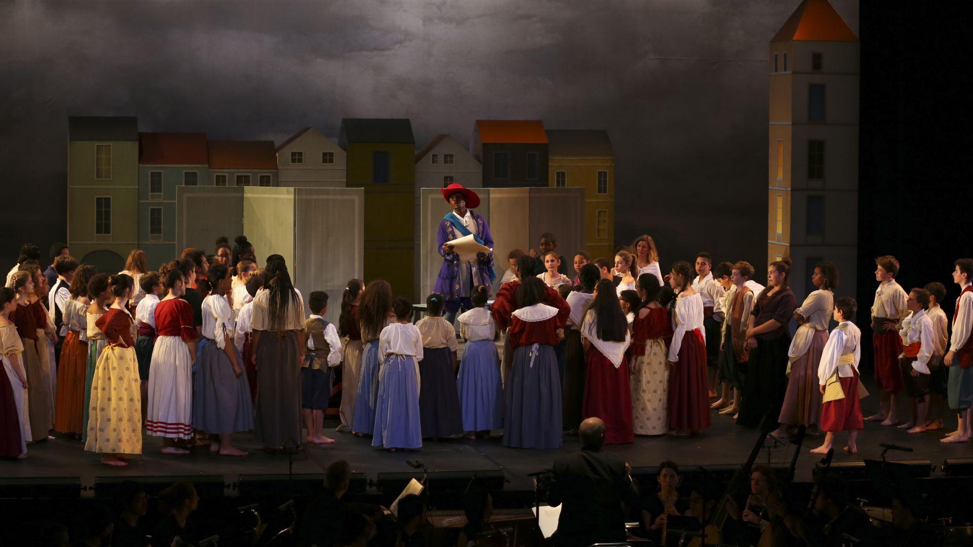 Spectacle Baptiste ou l'opéra des farceurs d'après Lully avec les collégiens de Trappes et les Pages