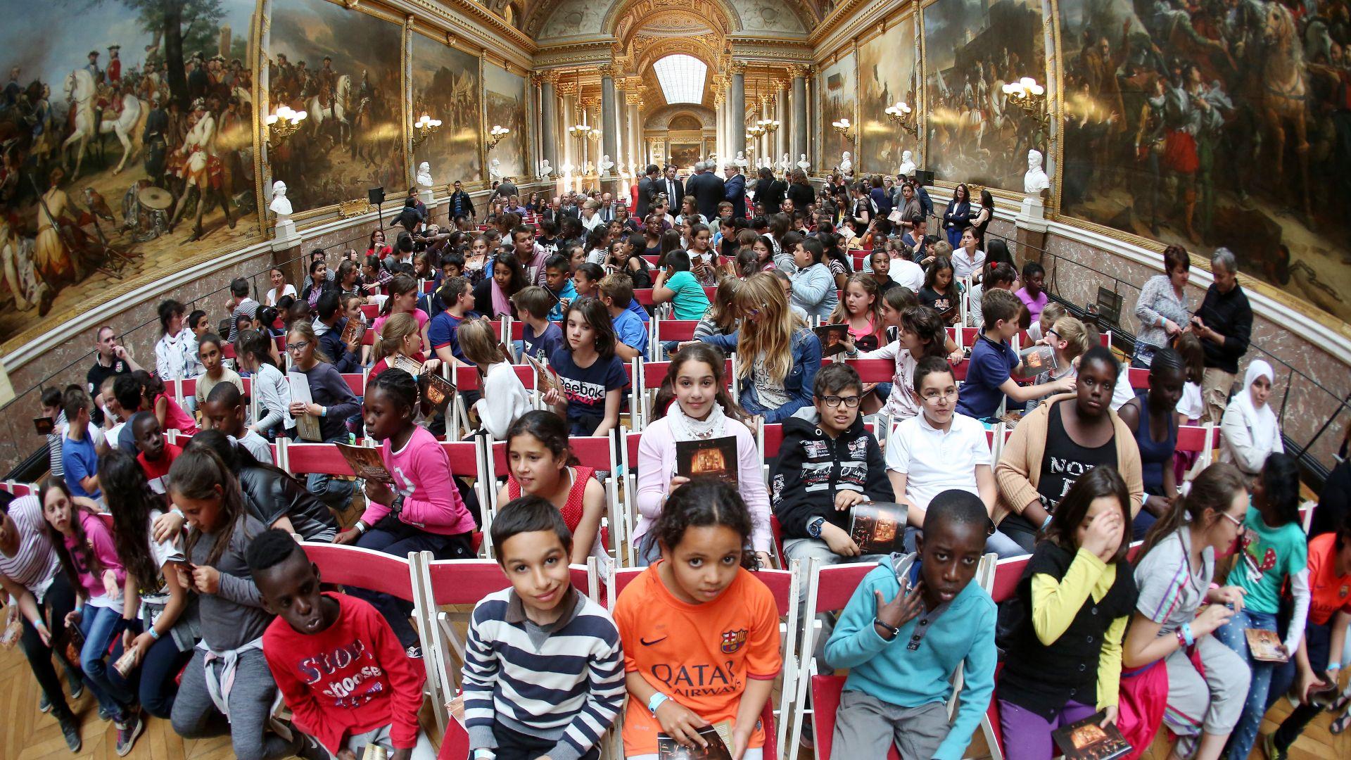 Visite scolaire à Versailles Classe à PACTE proposée par l'action culturelle du CMBV