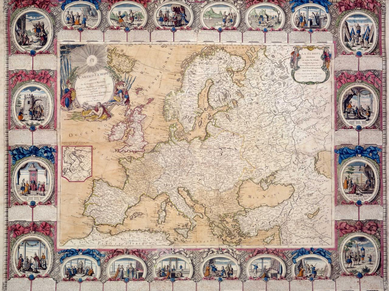 Carte de l'Europe en 1776