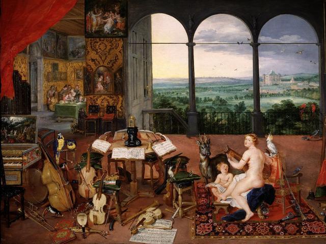 Tableau de l'allégorie de l'ouï par Rubens et Brueghel